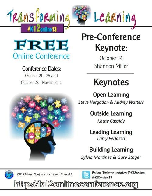 2013 K-12 Online Conference Flyer